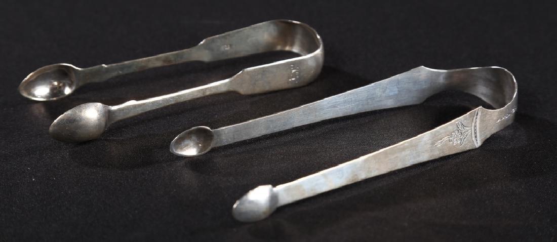 Two British George III Silver Tongs