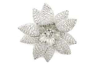 Emmon Silver Flower Pin Brooch