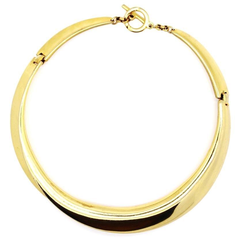 6: Clara Studio Inc Modernist Gold Collar Necklace