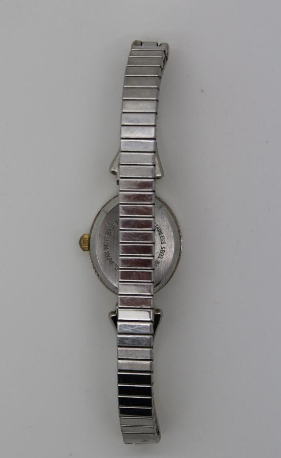 7: Vintage Gloria Vanderbilt Stainless Steel Watch - 2
