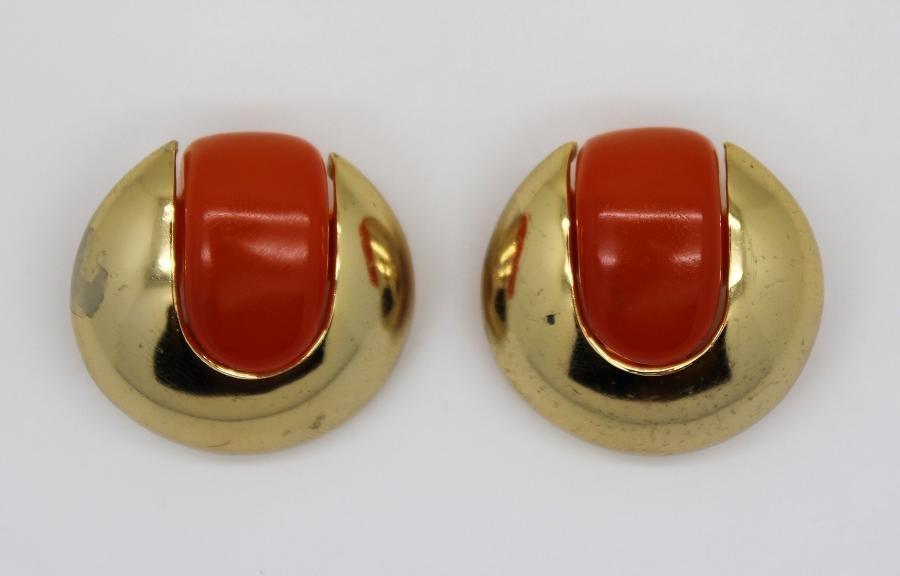 10: Lanvin Faux Carnelian Goldtone Clip Earrings
