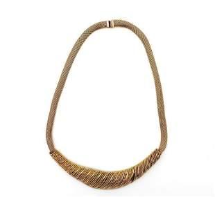 Vintage Grosse Germany 1964 Goldtone Mesh Necklace