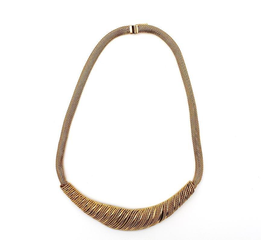 11: Vintage Grosse Germany 1964 Goldtone Mesh Necklace