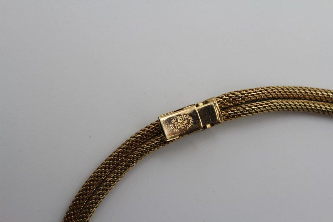 11: Vintage Grosse Germany 1964 Goldtone Mesh Necklace - 3