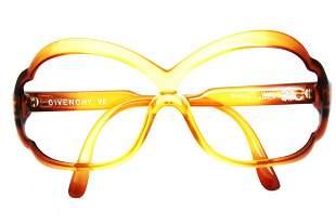 Vintage Unworn Brown Givenchy VII Eyeglass Frames