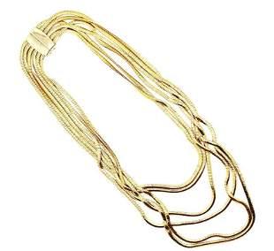 Vintage Gold Liz Claiborne Layer Chain Necklace