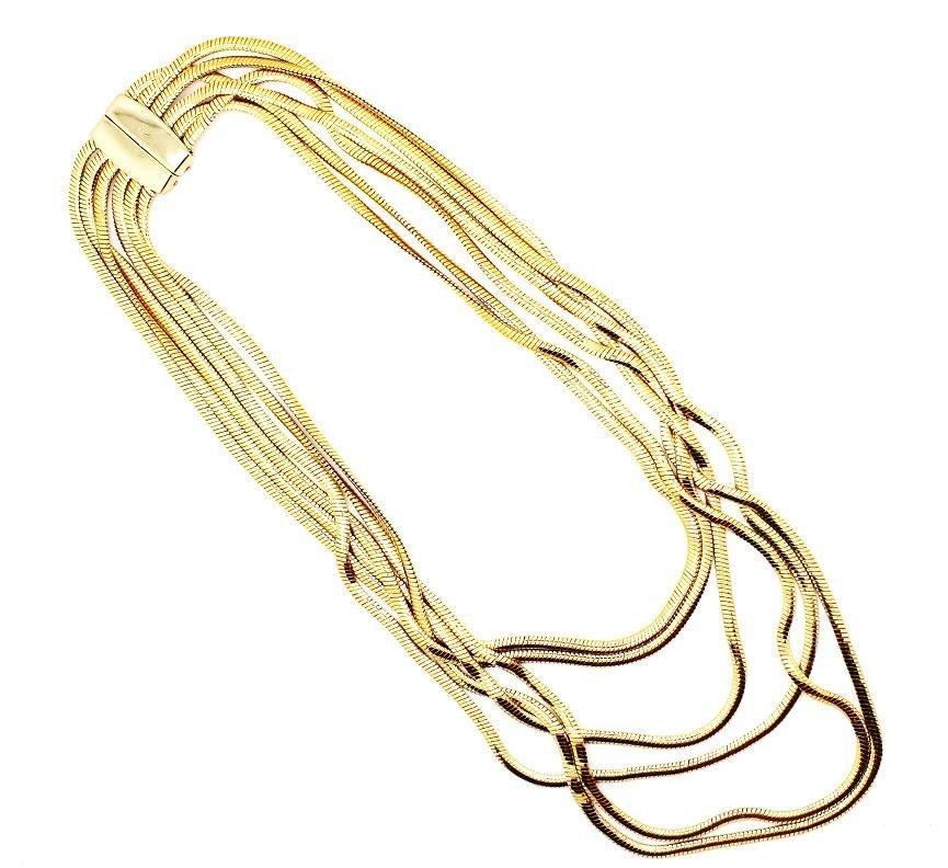22: Vintage Gold Liz Claiborne Layer Chain Necklace