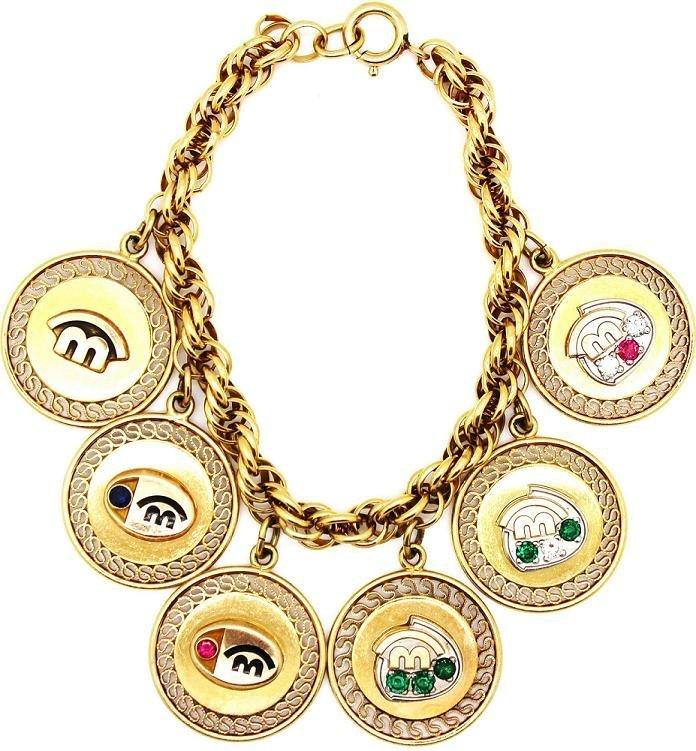6: McDonalds Year of Service Diamond Charm Bracelet