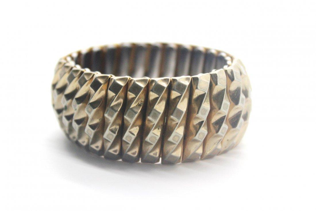 9: Vintage Leading Lady Harwood Gold Stretch Bracelet