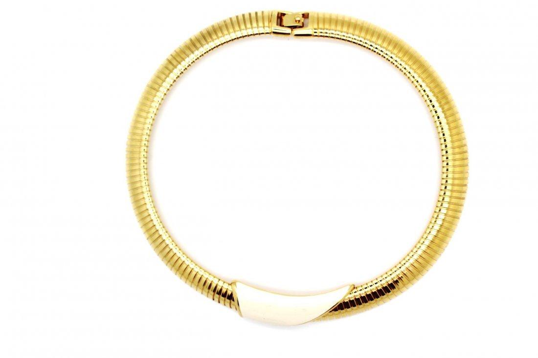20: Vintage Gold Monet Omega Necklace