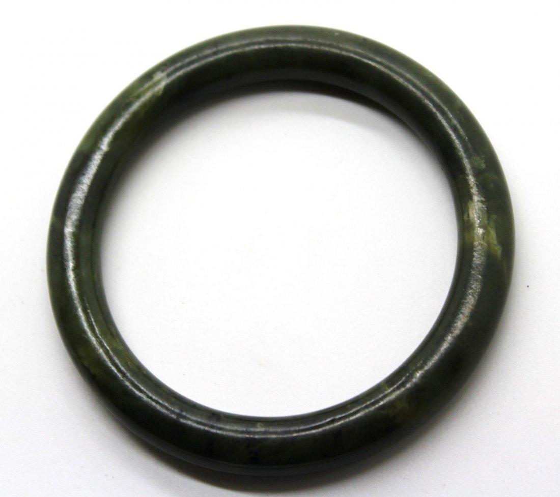 16: Vintage Green Jade Bangle Bracelet
