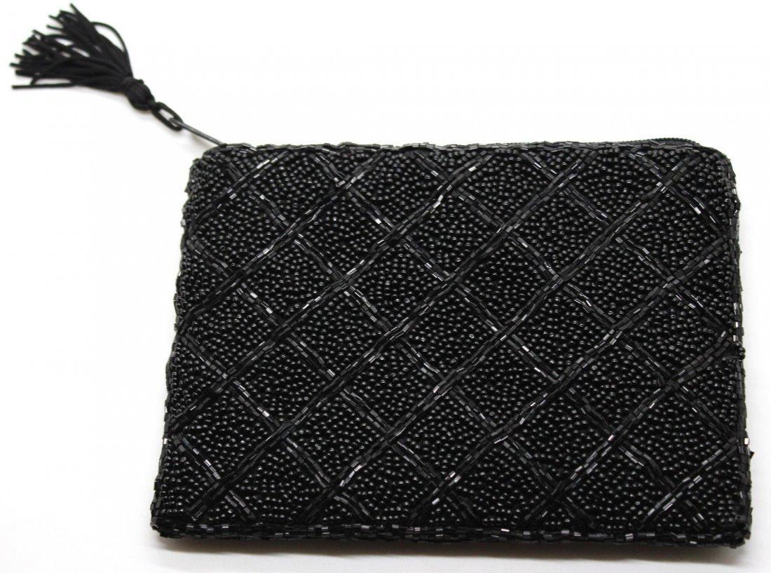 22: Vintage Black Beaded Lancomb Clutch Purse