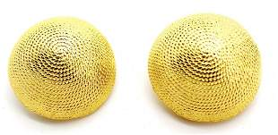 Vintage Norma Jean Goldtone Dome Clip Earrings