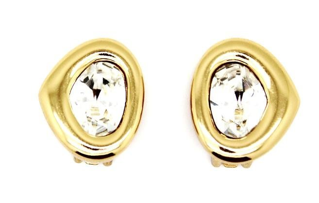 Vintage Unworn Christian Dior GoldTone Clip Earring