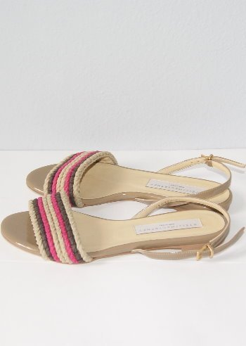 $545 STELLA McCARTNEY WOVEN SANDALS SHOES 6 1/2