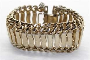 Vintage Monet Chunky Gold Tone Bracelet
