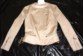 Chloe Beige Zipper Jacket size 38..BRAND NEW