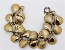 120: Vintage Gold Link Bracelet
