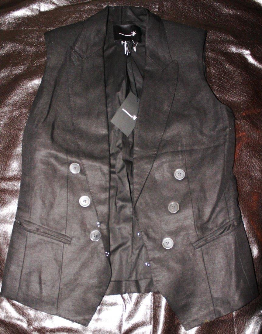 Isabel Marant Tevy Vest in Black, Brand New, EU Size 1