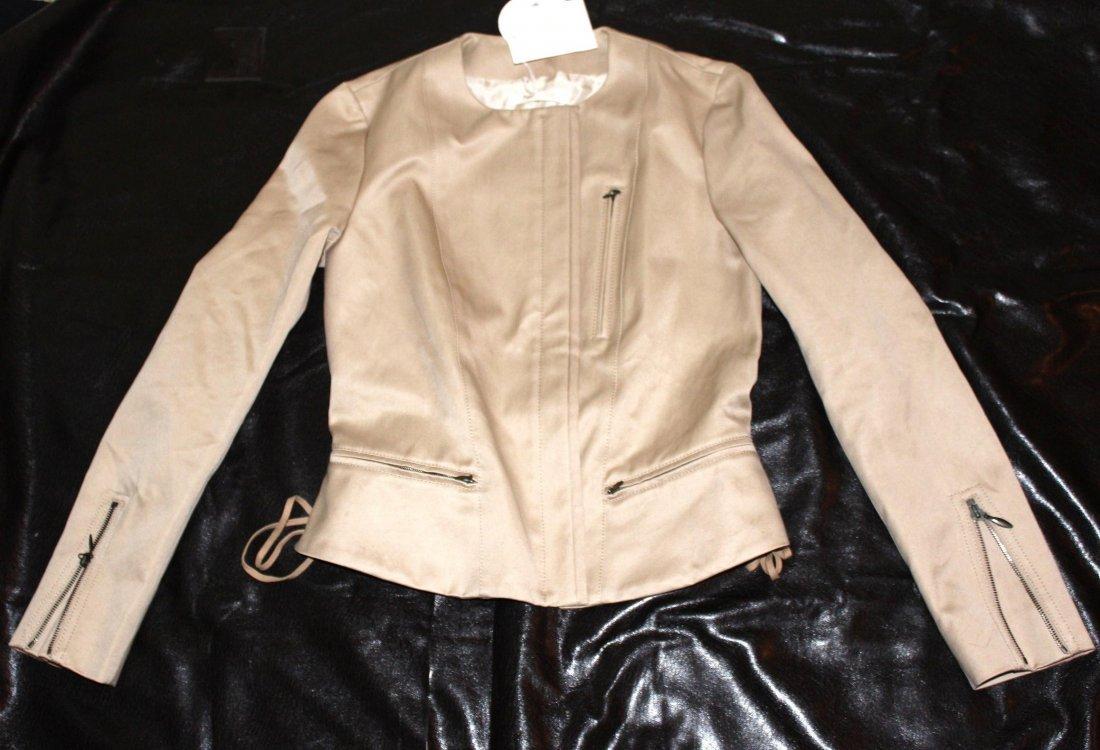 Chloe Beige Zipper Jacket Size 40...BRAND NEW