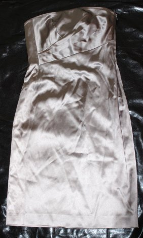 Alberta Ferretti Pewter Dress...New With Tags...Size 6