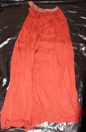 One Shoulder Orange Silk Dress by Dress...Made Italy