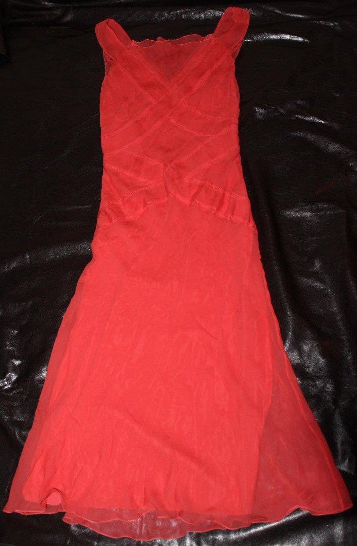 Alberta Ferretti Orange Dress...New...Size 4