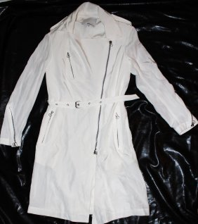 3.1 PHILLIP LIM WHITETRENCH ZIPPER JACKET SIZE 0