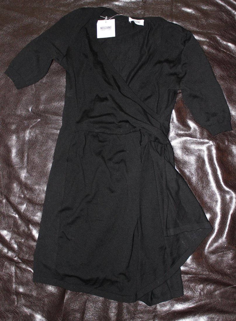 BLACK WOOL MOSCHINO DRESS..BRAND NEW WITH TAGS