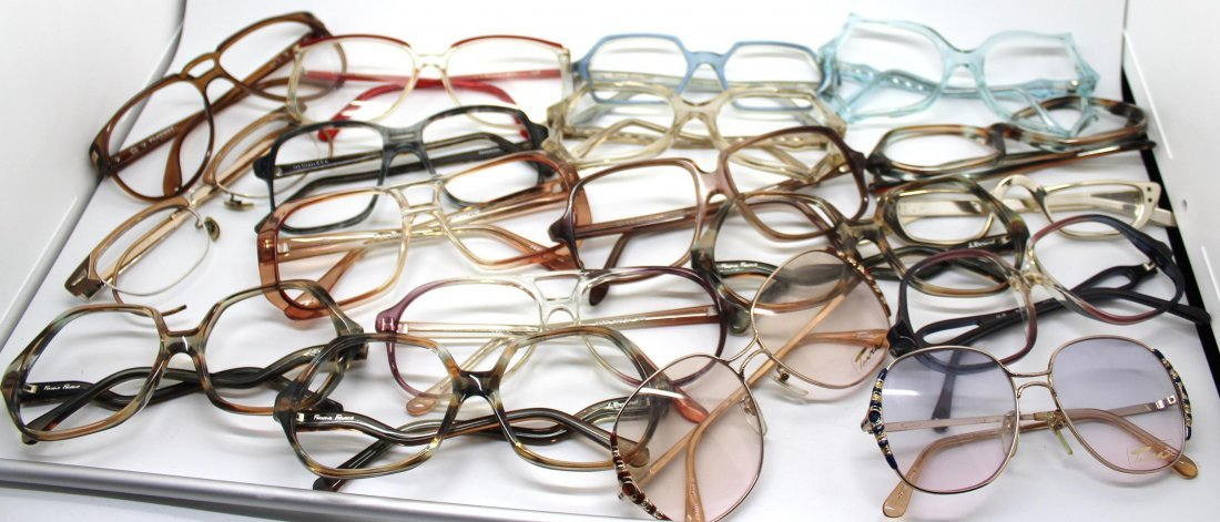 Vintage Lot of 20 Eyeglasses - Tura, Playboy, L Evrard