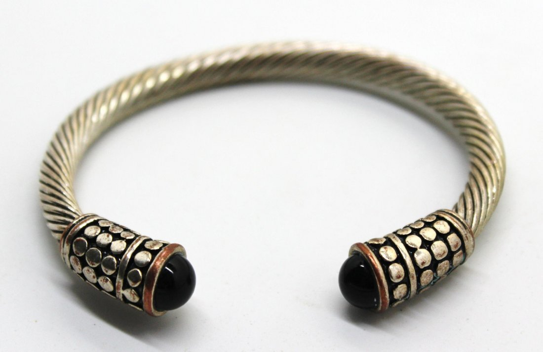 Vintage David Yurman Style Silver Cable Bracelet