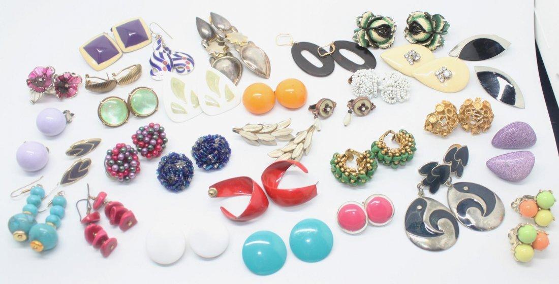 Dealers Lot of 30 Pairs of Vintage Earrings