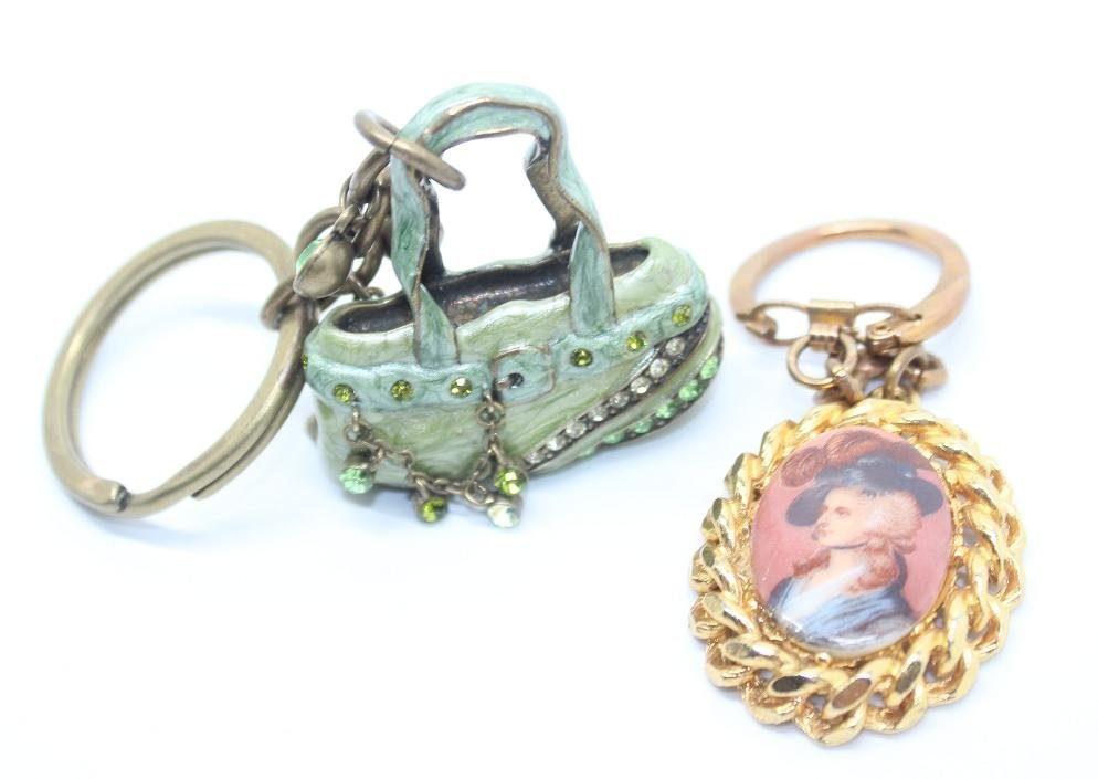 Lot of 2 Vintage Key Chains