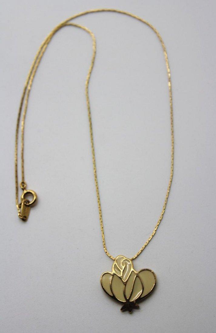 Vintage Signed Trifari Enamel Necklace