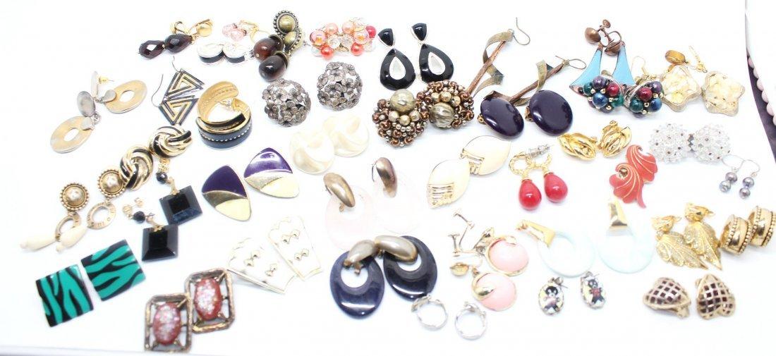 Dealers Lot of 40 Pairs of Vintage Earrings