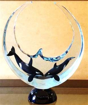 """ORCA MILLENIUM"" Limited Edition Lucite & Sculpture"
