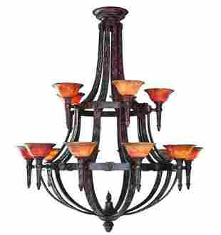 Aslan- Fifteen Light Chandelier Bronze Oxide- $39,513