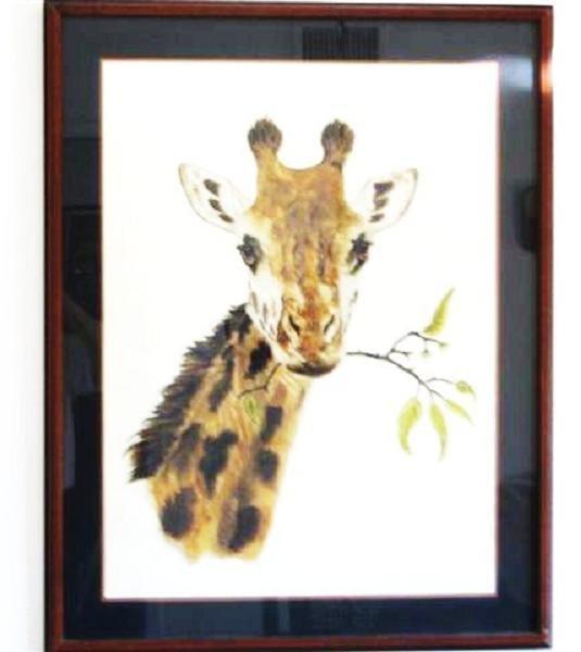 Jacquie Marie Vaux Giraffe Lithograph - circa 1972
