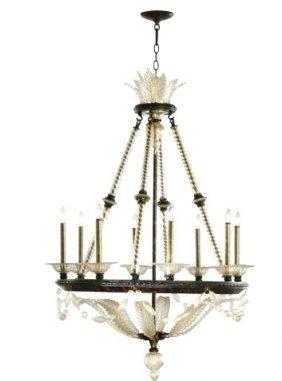 Ava -Eight Light Chandelier - Bronze Oxide Finish $2362