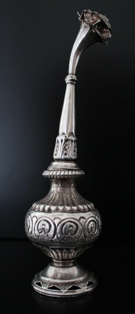 1900 Century Antique Silver Indian Rose Water Shaker