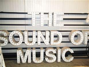 'The Sound of Music' Neon Marquee Sign - 1962-1963