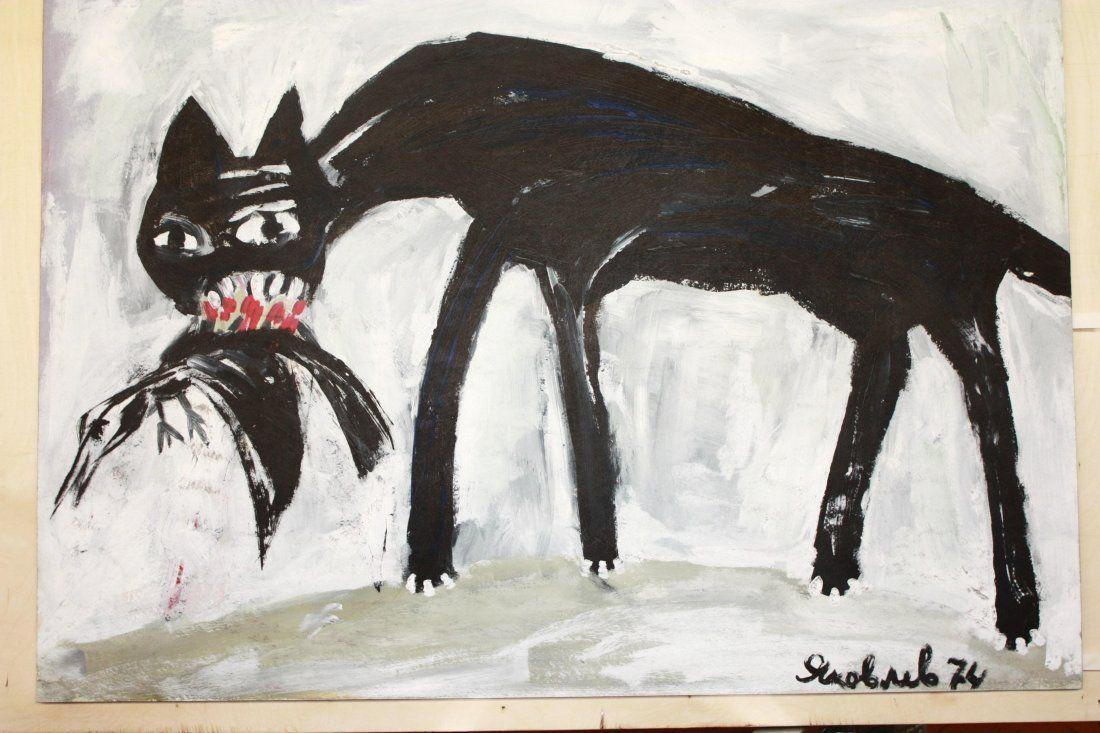 VLADIMIR IGOREVICH YAKOVLEV - Cat With Bird