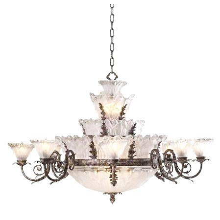 Fontana - 18 Light Chandelier -Nautical Iron $17,000