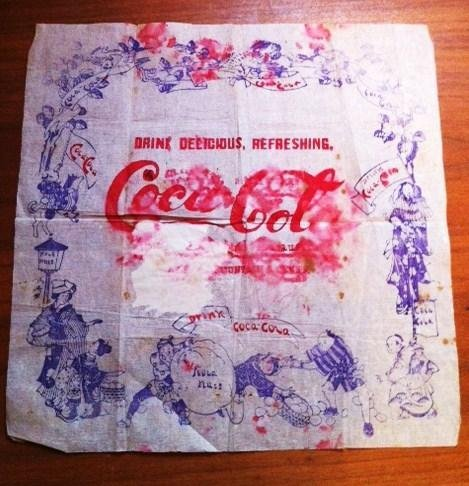 Vintage Coca Cola Napkin - 1890's