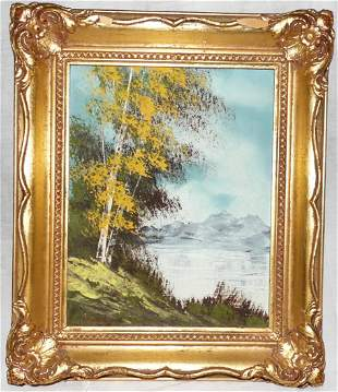 19th Century Landscape Oil Painting on Board