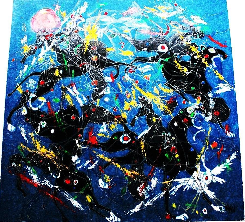 "Jiang Tiefeng - ""Song of Panthers"" - Signed Silkscreen"