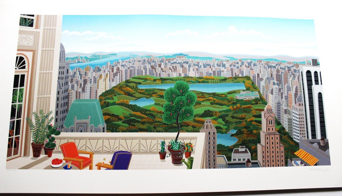 Thomas McKnight - Central Park Panorama - Silkscreen