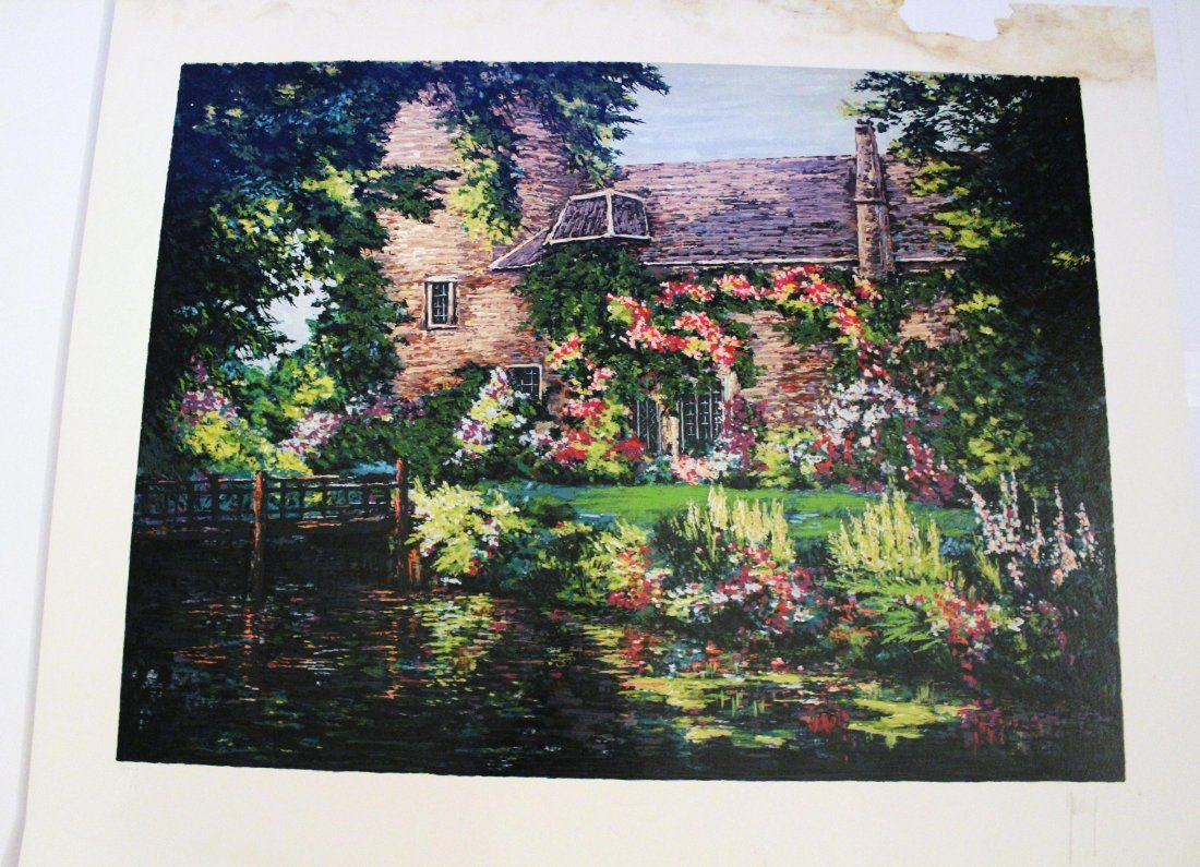 Mark King - Old Mill Garden - Silkscreen