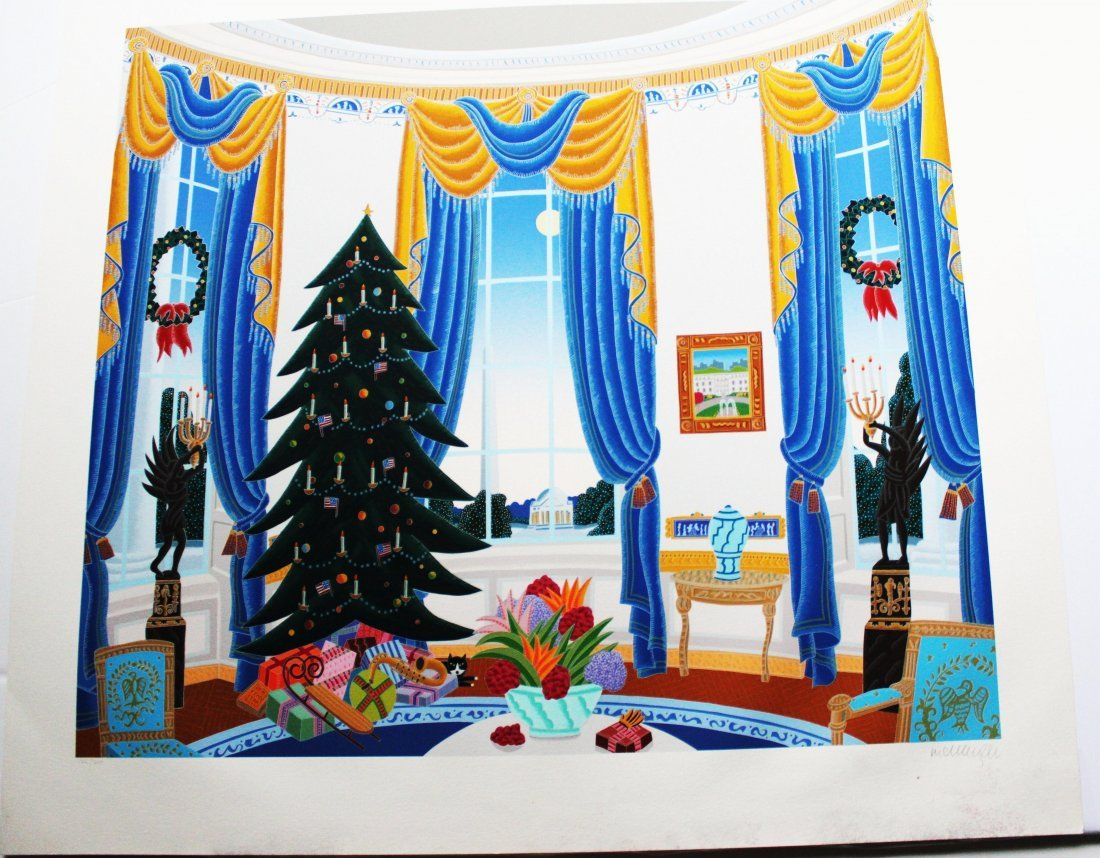 Thomas McKnight - White House Blue Room - Serigraph