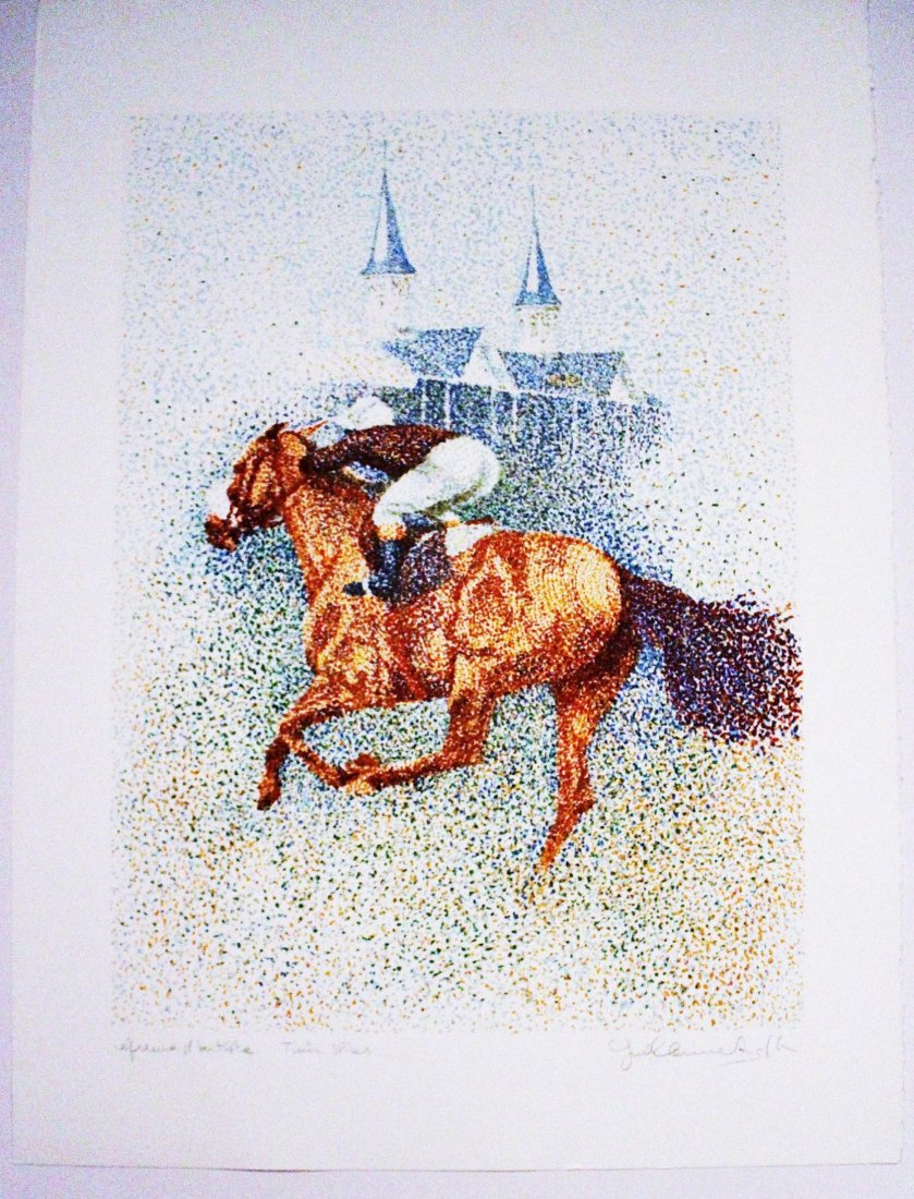 Guillaume Azoulay-Twin Spires-Limited Edition Serigraph